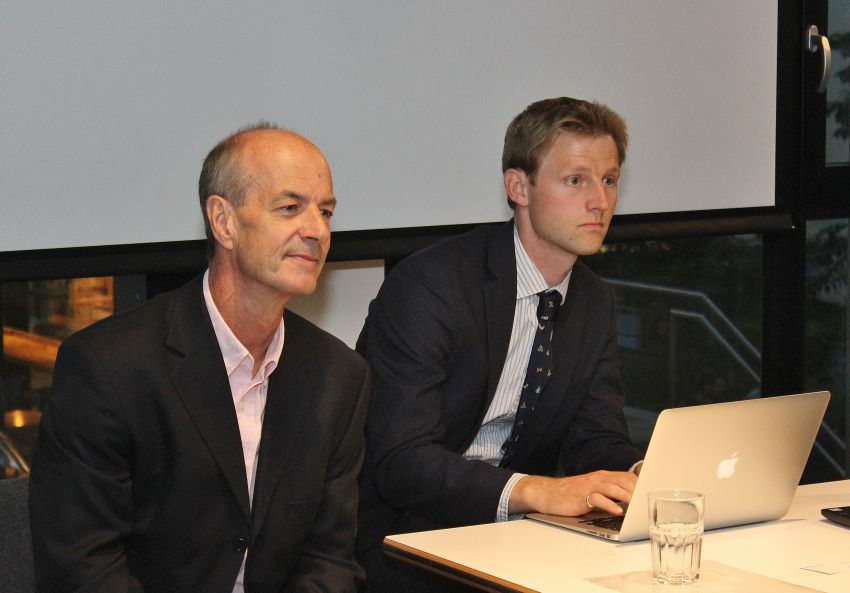 Tim Morris and Will Harvey in the Q&A session